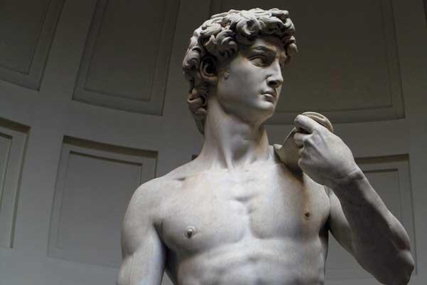 El David de Miguel Ángel en la Galería Academia