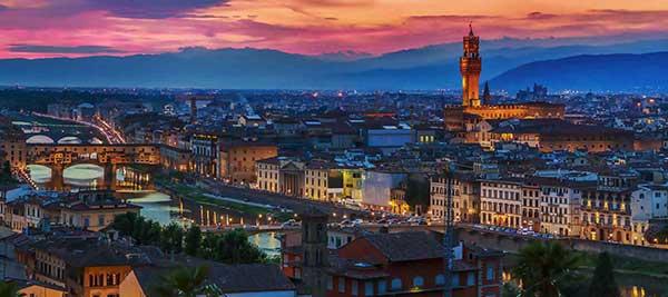 Ciudad de Florencia en Italia